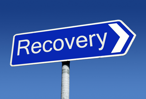 Sign post that reads Recovery